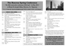 The Roscrea Spring Conference 2011